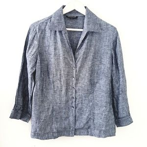 Jones New York - Lightweight Blue Denim Blouse